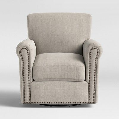 Meadowood Swivel Rocker Arm Chair Cream – Threshold With Trendy Brames Barrel Chair And Ottoman Sets (View 26 of 30)