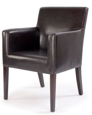 Metro Brown Leather Armchair Regarding Best And Newest Jill Faux Leather Armchairs (View 13 of 30)