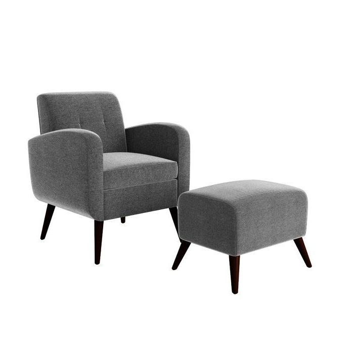 "Michalak Cheswood Armchairs And Ottoman Intended For Newest George Oliver Joetta 20"" Armchair And Ottoman & Reviews (View 22 of 30)"