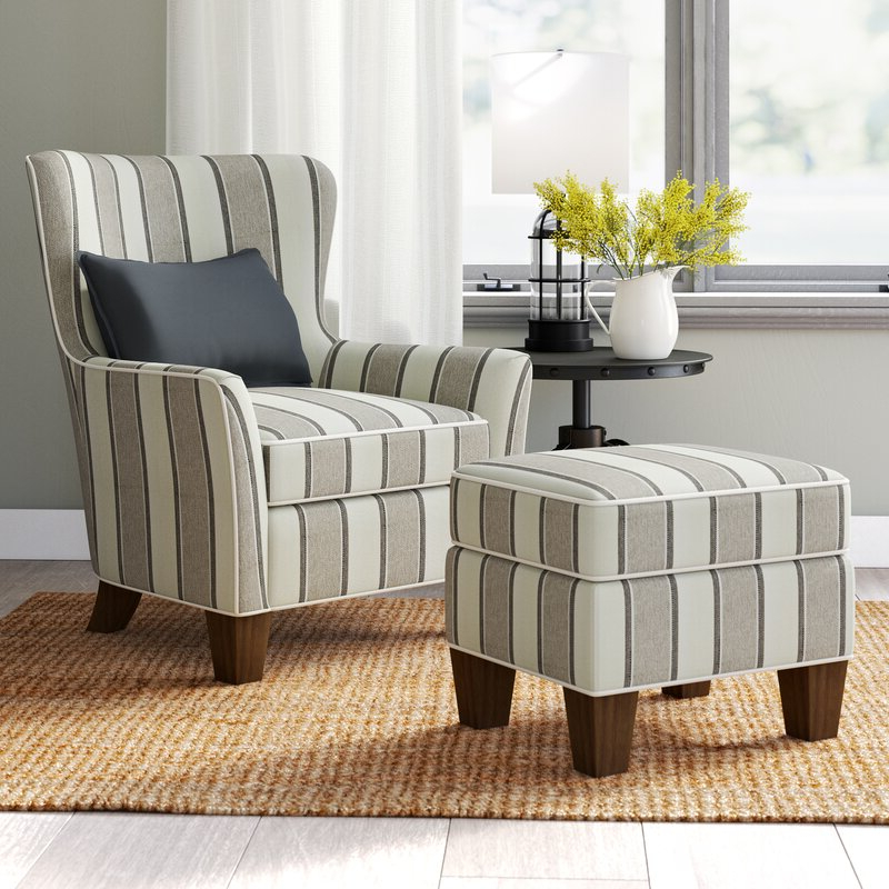 Modern Armchairs And Ottoman In Best And Newest Miranda (View 17 of 30)