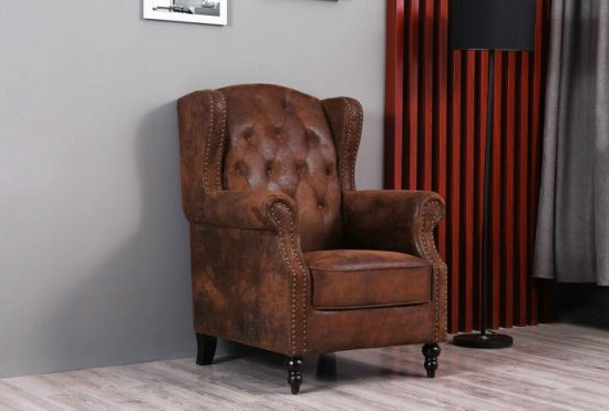 Modern Armchairs And Ottoman With Trendy China Wingback Armchair And Ottoman Modern Furniture – China (View 28 of 30)