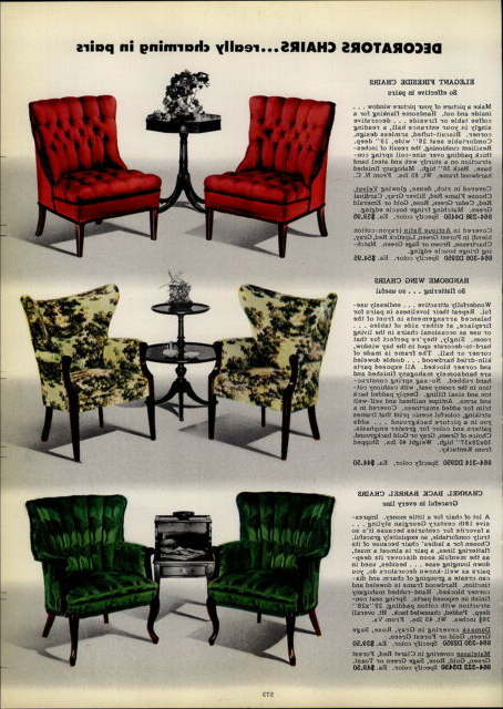 Most Current 1954 Paper Ad 3 Pg Vikon Chairs Chair Furniture Mid Century Intended For Ronda Barrel Chairs (View 26 of 30)