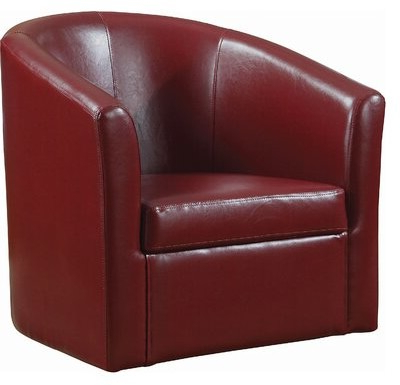 Most Current Adabella Barrel Chair For Gilad Faux Leather Barrel Chairs (View 18 of 30)
