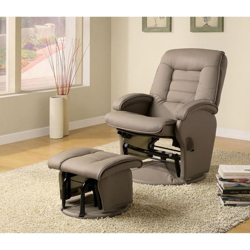 Most Current Artemi Barrel Chair And Ottoman Sets Pertaining To Coaster Furniture Recliners 600166 Glider Recliner With (View 24 of 30)