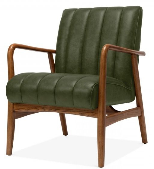 Most Current Designer Lounge Chair – Feva Green – Online Reality With Jill Faux Leather Armchairs (View 9 of 30)