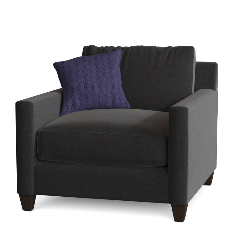 """Most Current Kerry 38"""" W Polyester Blend Down Cushion Armchair With Polyester Blend Armchairs (View 14 of 30)"""