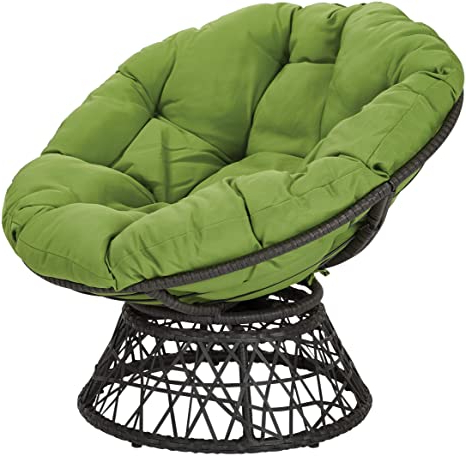 Most Current Osp Designs Bf25292 6 Papasan Chair With 360 Degree Swivel, Green Cushion And Black Frame Inside Decker Papasan Chairs (View 23 of 30)