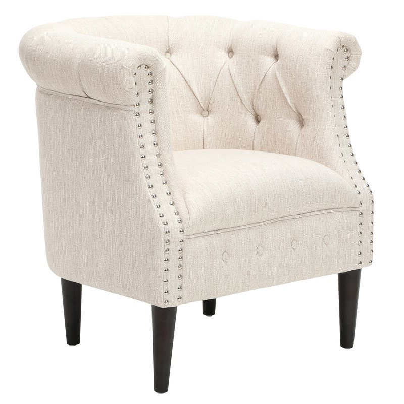 Most Current Starks Tufted Fabric Chesterfield Chair And Ottoman Within Kjellfrid Chesterfield Chairs (View 11 of 30)