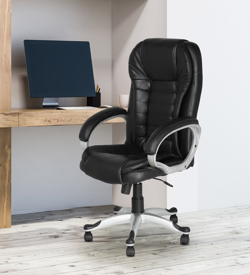 Most Popular Artemi Barrel Chair And Ottoman Sets In Artemis Executive Chair In Black Colour (View 9 of 30)