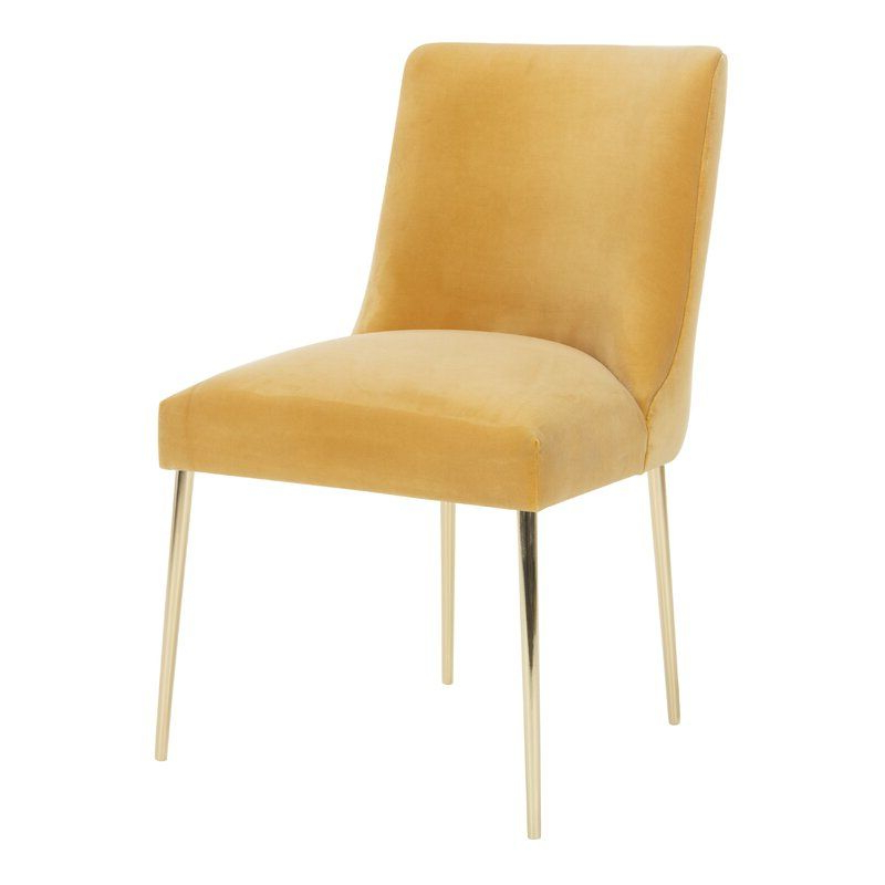 Most Popular Daulton Velvet Side Chairs Pertaining To Sandon Velvet Upholstered Side Chair & Reviews (View 29 of 30)