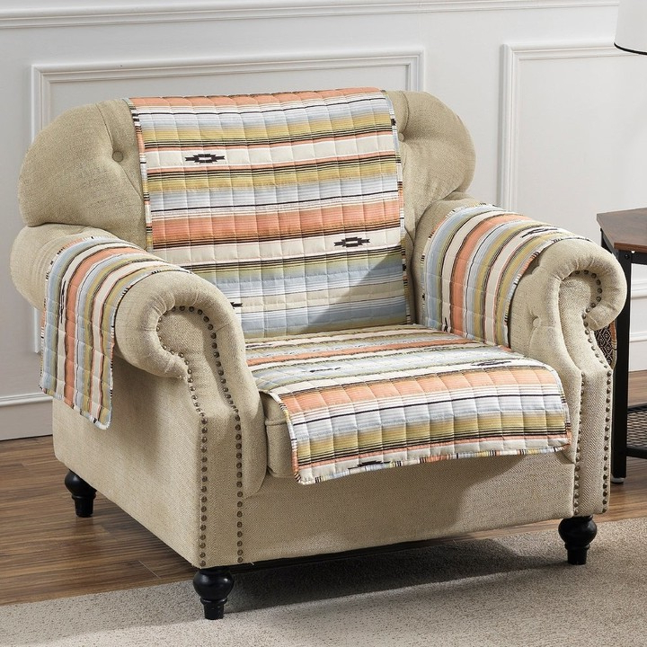 Most Popular Deer Trail Armchairs Regarding Painted Desert Reversible Arm Chair Protector – 81 X 81 Inches (View 21 of 30)