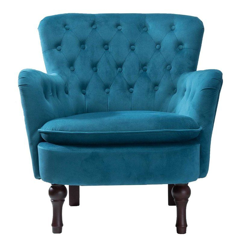 Most Popular Didonato Tufted Velvet Armchairs Throughout Didonato Velvet Tufted Upholstered Armchair (View 7 of 30)