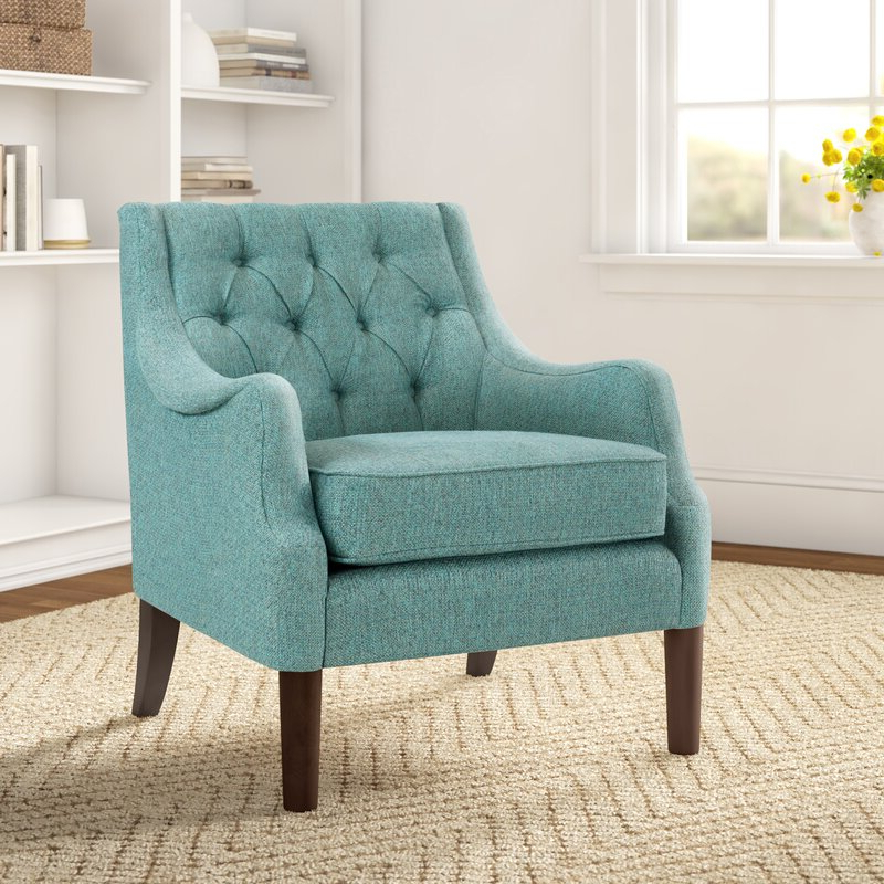 Most Popular Galesville Tufted Polyester Wingback Chairs Throughout Galesville (View 4 of 30)