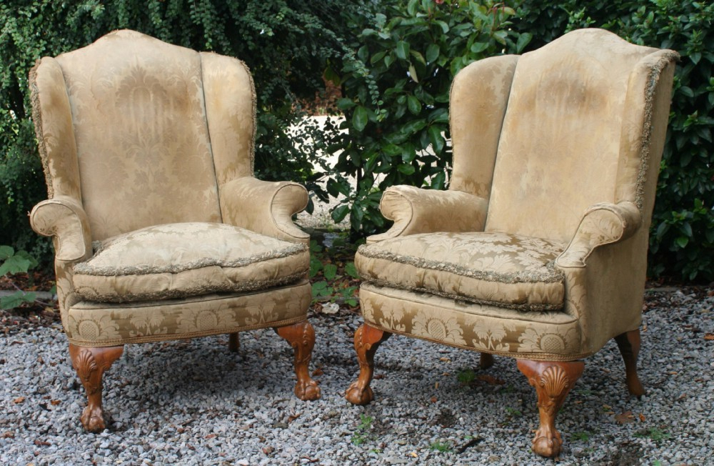 Most Popular Good Walnut Queen Anne Style 3 Piece Suite, Circa 1910 With Reynolds Armchairs (View 7 of 30)