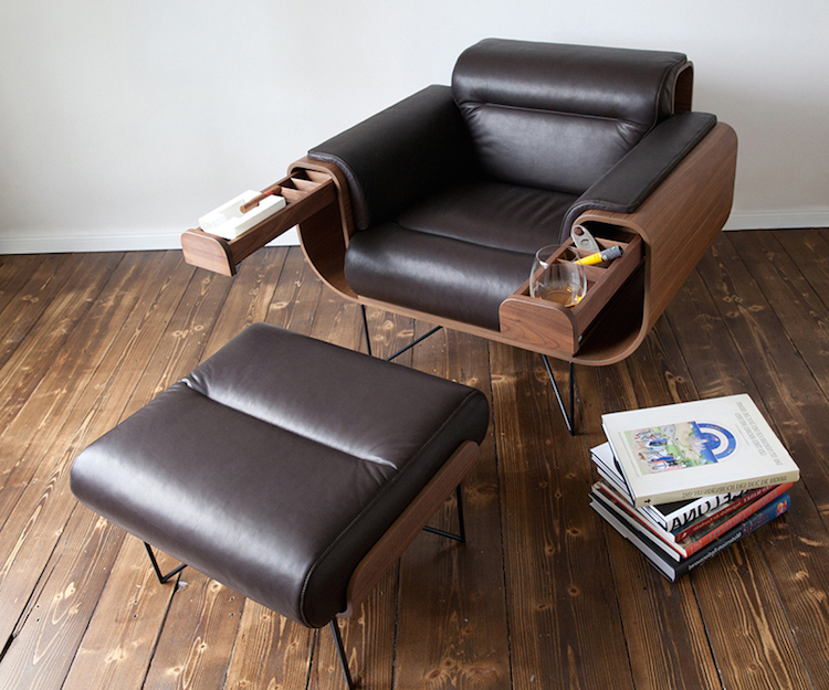 Most Popular Smokers' Armchairel Puristadaan Pertaining To Alexander Cotton Blend Armchairs And Ottoman (View 30 of 30)