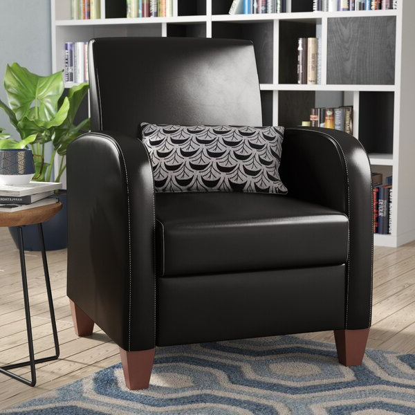Most Recent Annegret Faux Leather Barrel Chair And Ottoman Sets For Square Sleek Leather Chair (View 9 of 30)