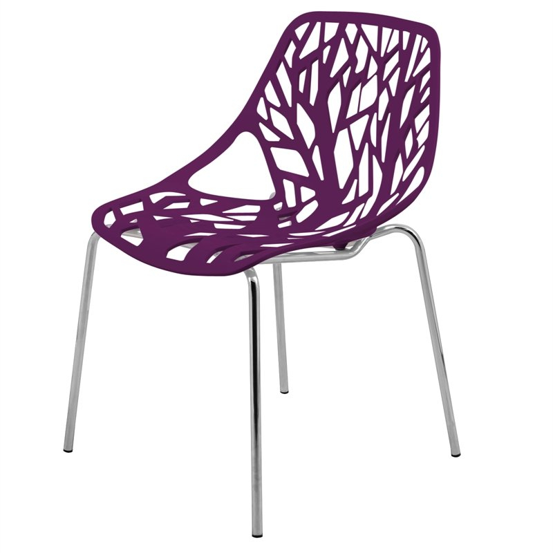 Most Recent Asbury Club Chairs With Regard To Leisuremod Modern Asbury Dining Side Chair With Chromed Legs In Purple (View 29 of 30)