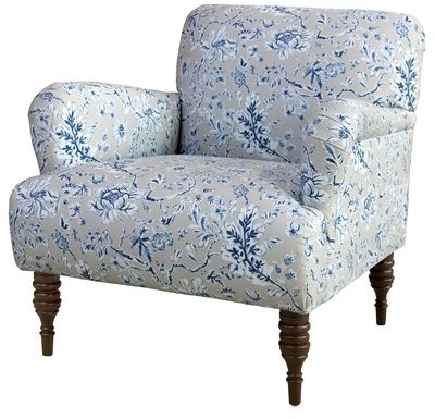 """Most Recent Autenberg Armchairs Pertaining To Crothersville 32"""" W Polyester Blend Armchair Body Fabric: Gray Floral Cotton, Leg Color: Natural (View 13 of 30)"""