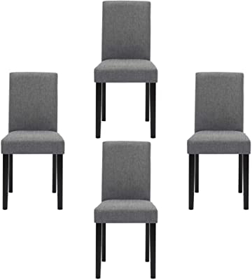 Most Recent Bob Stripe Upholstered Dining Chairs (set Of 2) Within Amazon – Set Of 4 Modern Fabric Upholstered Dining (View 24 of 30)