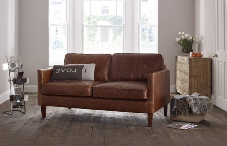 Most Recent Columbus Armchairs Within Columbus Small Leather Sofa (View 14 of 30)