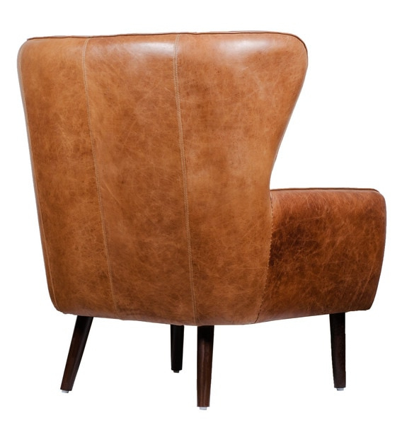 Most Recent Dorchester Wing Chair In Vintage Brown Colour Regarding Dorcaster Barrel Chairs (View 28 of 30)