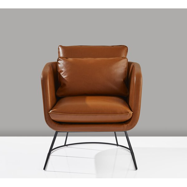 """Most Recent Jarin Faux Leather Armchairs Pertaining To Cirencester 29"""" W Faux Leather Armchair (View 16 of 30)"""