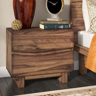 Most Recent Mistanatm Hiram 2 Drawer Nightstand Mistana With Akimitsu Barrel Chair And Ottoman Sets (View 29 of 30)