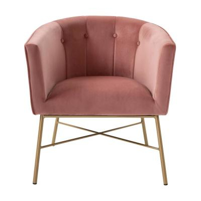 Most Recent Pink – Accent Chairs – Chairs – The Home Depot Pertaining To Erasmus Velvet Side Chairs (set Of 2) (View 25 of 30)