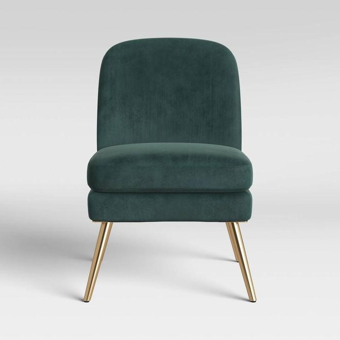 Most Recent Wexner Modern Slipper Velvet Chair Emerald Green – Project 62 , Green Green – Target Throughout Erasmus Velvet Side Chairs (set Of 2) (View 26 of 30)