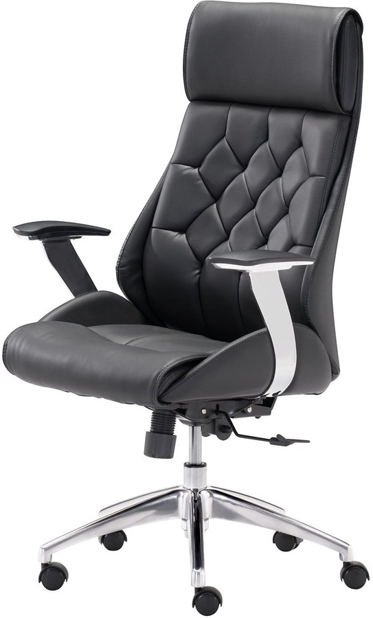 Most Recent Zuo Modern Boutique Faux Leather Adjustable Desk Chair For Giguere Barrel Chairs (View 15 of 30)