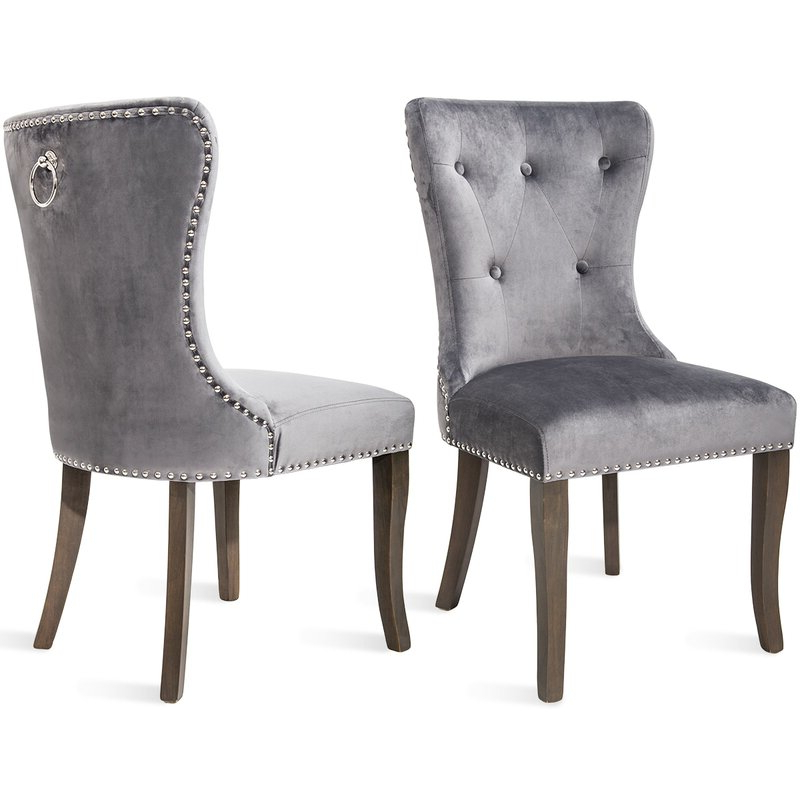 Most Recently Released Armless Upholstered Slipper Chairs Regarding Dining Chair Tufted Armless Chair Upholstered Accent Chair, Set Of 6 (grey) (View 24 of 30)