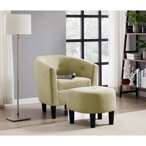 Most Recently Released Bedroom Chair With Ottoman With Jazouli Linen Barrel Chairs And Ottoman (View 27 of 30)