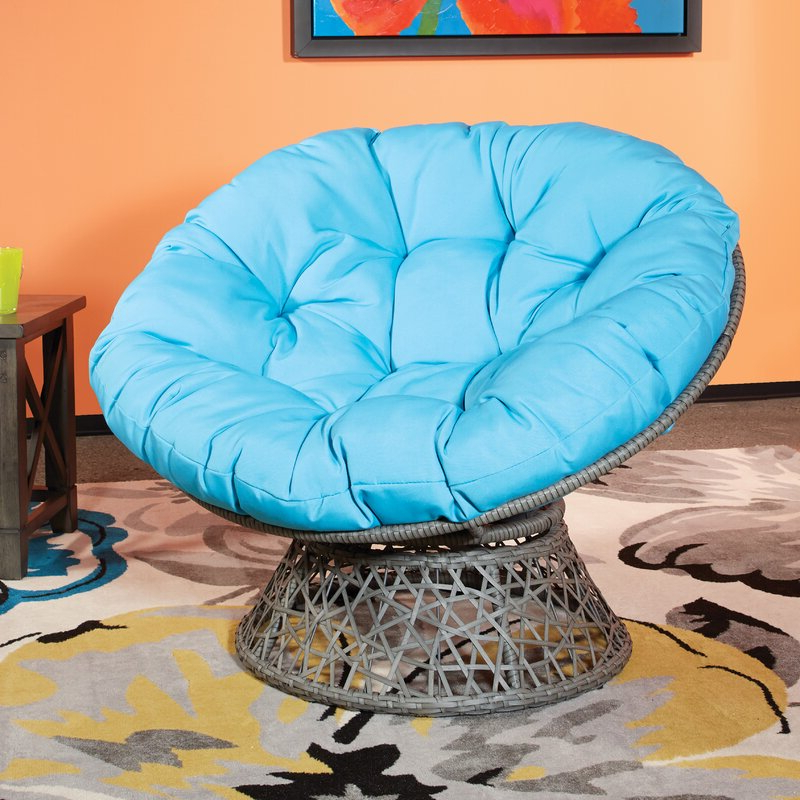 Most Recently Released Campton Papasan Chairs Inside Swivel Papasan Chair (View 16 of 30)