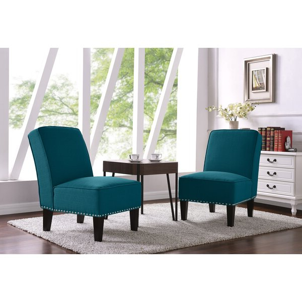 Most Recently Released Goodspeed Slipper Chairs (set Of 2) Pertaining To Aqua Slipper Chair Set Of (View 6 of 30)