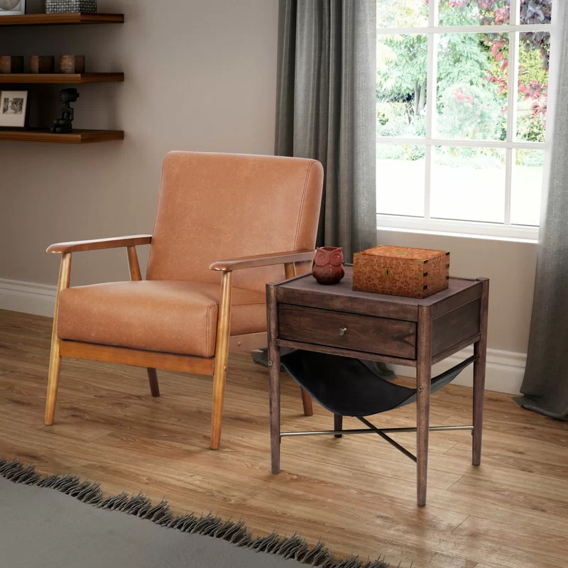 """Most Recently Released Jarin Faux Leather Armchairs In George Oliver Barlow 21"""" Armchair & Reviews (View 19 of 30)"""
