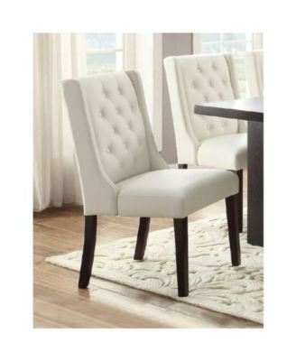 Most Recently Released Madison Avenue Tufted Cotton Upholstered Dining Chairs (set Of 2) In Benzara Upholstered Button Tufted Leatherette Dining Chair (View 10 of 30)
