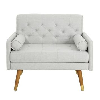 Most Recently Released Noble House Frankie Mid Century Modern Tufted Beige Fabric Regarding Alwillie Tufted Back Barrel Chairs (View 21 of 30)