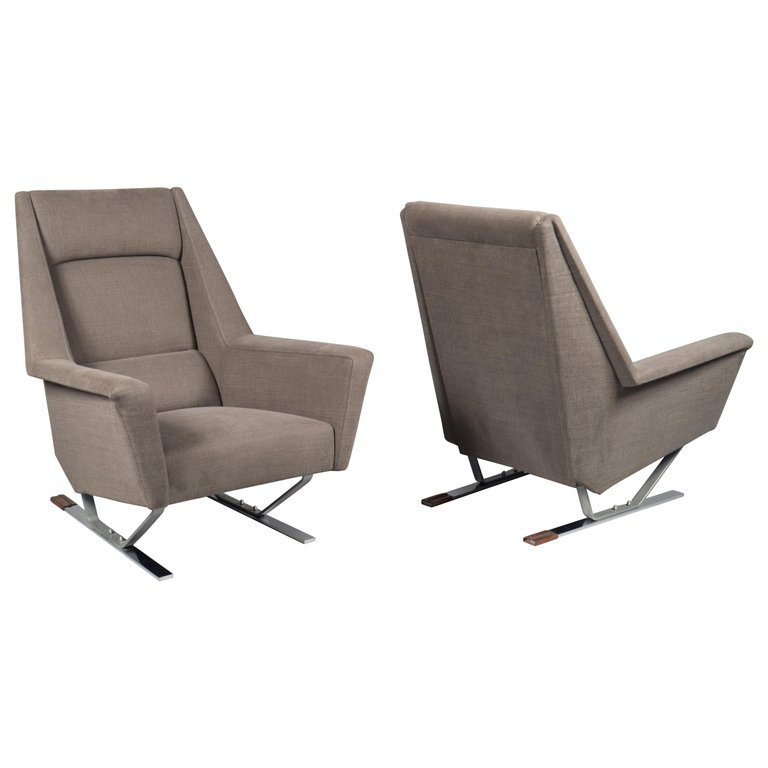 Most Recently Released Pair Of Armchairs, France, 1970s (View 18 of 30)