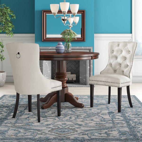 Most Recently Released Patterned Dining Chair Intended For Bob Stripe Upholstered Dining Chairs (set Of 2) (View 8 of 30)
