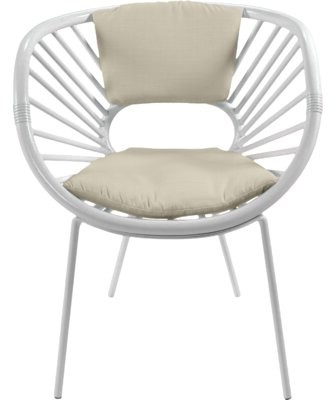 Most Recently Released Renay Papasan Chairs Intended For Aura Collection Papasan Chair Upholstery Color: Bright White (View 12 of 30)