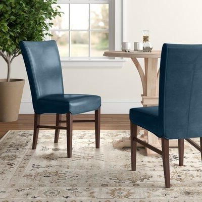 Most Recently Released Zyaire Upholstered Dining Chair Upholstery Color: Vintage Blue For Bob Stripe Upholstered Dining Chairs (set Of 2) (View 9 of 30)
