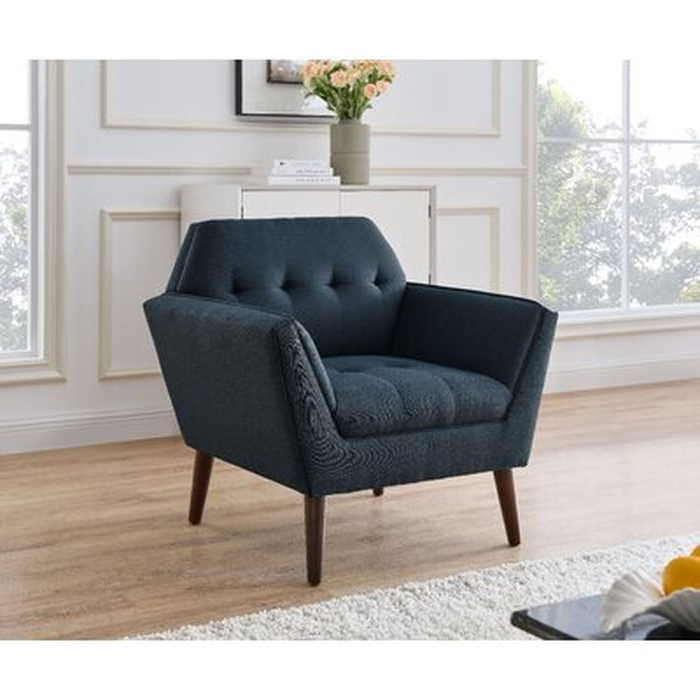 Most Up To Date Aguirre Armchair, Blue – Wayfair Intended For Autenberg Armchairs (View 9 of 30)
