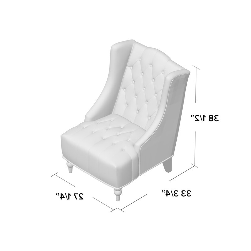 "Most Up To Date Allis Tufted Polyester Blend Wingback Chairs With Contreras 21"" Side Chair (View 12 of 30)"