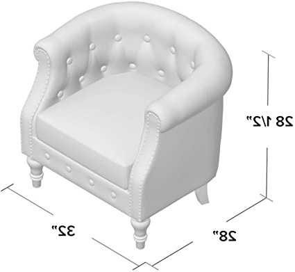 Most Up To Date Amazon: Kjellfrid Chesterfield Chair, Overall: 29'' H In Kjellfrid Chesterfield Chairs (View 4 of 30)