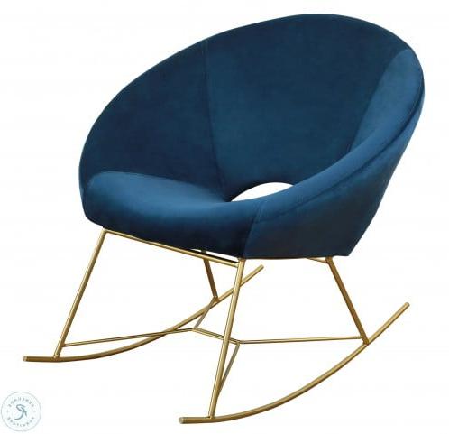 Most Up To Date Ronda Barrel Chairs Regarding Nolan Navy Velvet Chair (View 24 of 30)