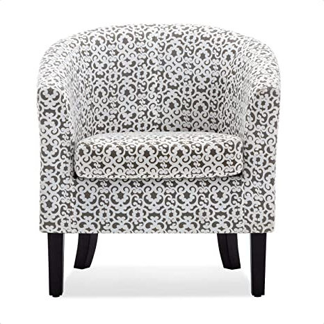 Munson Linen Barrel Chairs Pertaining To Famous Amazon: Munson Barrel Chair: Kitchen & Dining (View 2 of 30)