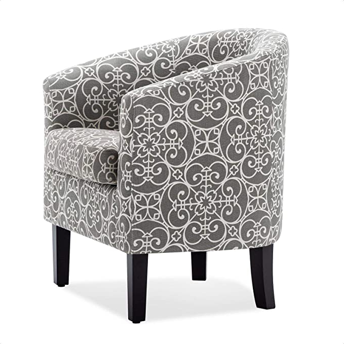 Munson Linen Barrel Chairs Pertaining To Popular Amazon: Munson Barrel Chair: Kitchen & Dining (View 5 of 30)
