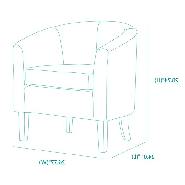 "Munson Linen Barrel Chairs With Trendy Munson 26"" W Linen Barrel Chair (View 4 of 30)"