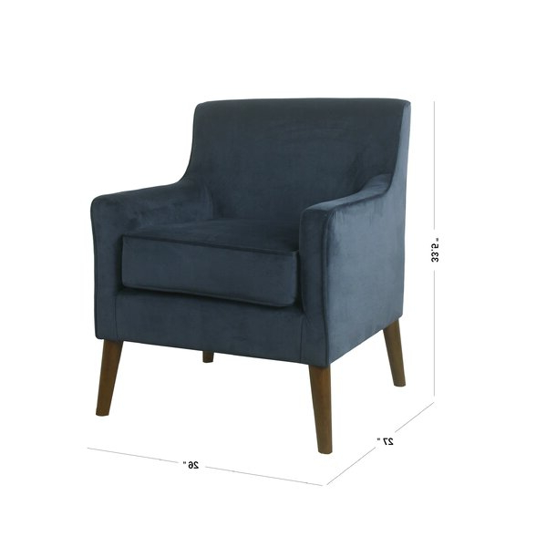 "Myia Armchairs In Famous Myia 26"" W Polyester Armchair (View 6 of 30)"
