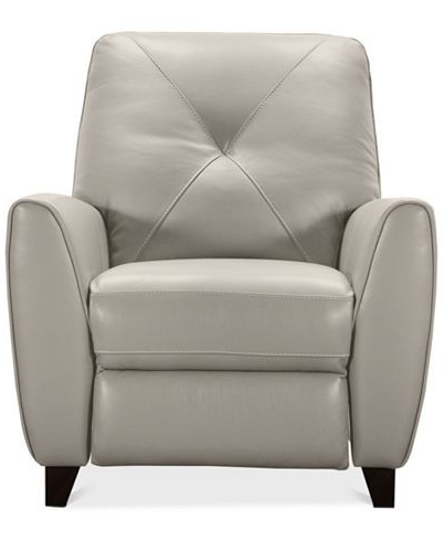 Myia Armchairs Pertaining To Newest Furniture Myia Leather Pushback Recliner, Created For Macy's (View 12 of 30)